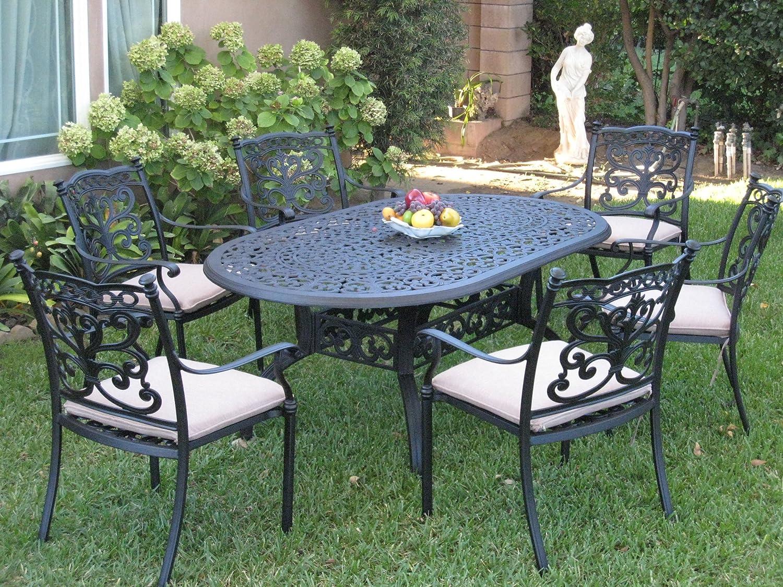 CBM Patio Furniture 7 Piece Aluminum Dining Set with 6 Swivel Rockers DS-SA01-4272T 71it-g2B20gLSL1500_