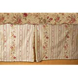 Greenland Home GL-WB0726-BSKQ Greenland Home Antique Rose Bed Skirt, Queen