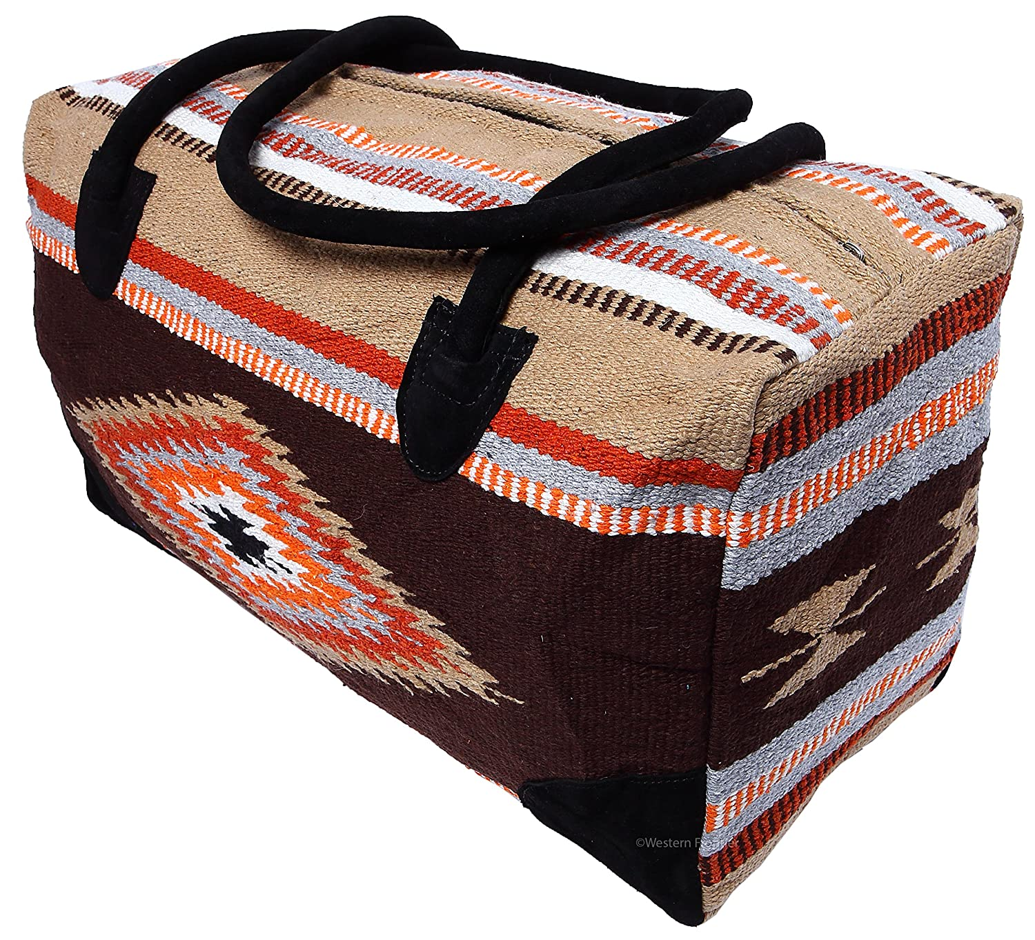 El Paso Designs Southwest Duffel Bag- Camino Real Native American and Mexican Style Jumbo Large Travel Bags (La Paz)