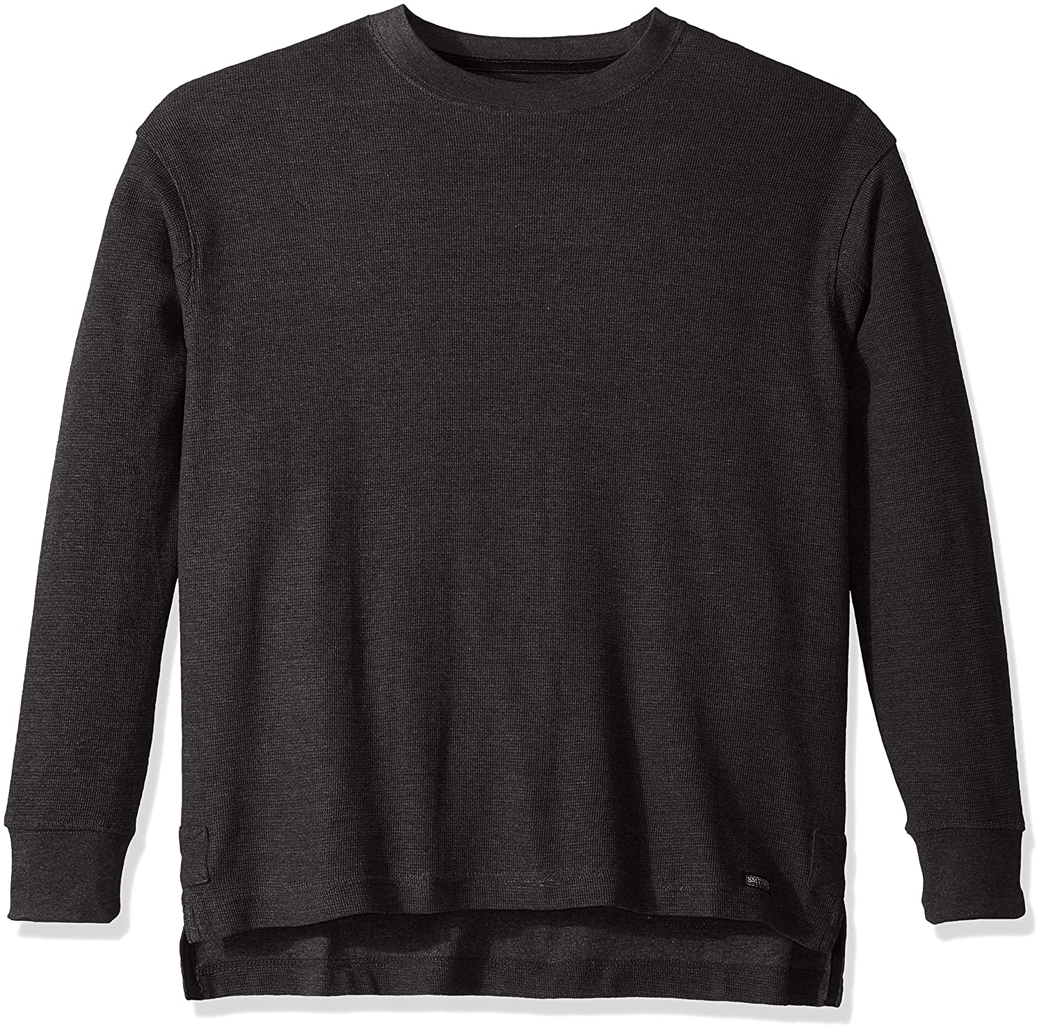 Smiths Workwear Mens Long-Tail Thermal Knit Crew Pullover with Gusset