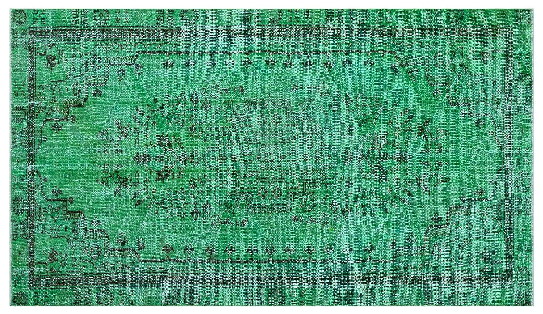 Bespoky ビンテージ 手織 ラグ 緑 ミディアムサイズ 154 X 270 Cm   B07HNC31PX