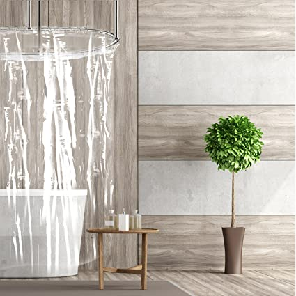 55inch Width Small Shower Stall Curtain Liner Wimaha Short Mildew Resistant Rustproof Grommets