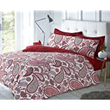 paisley red duvet quilt cover pillowcases king by pieridae
