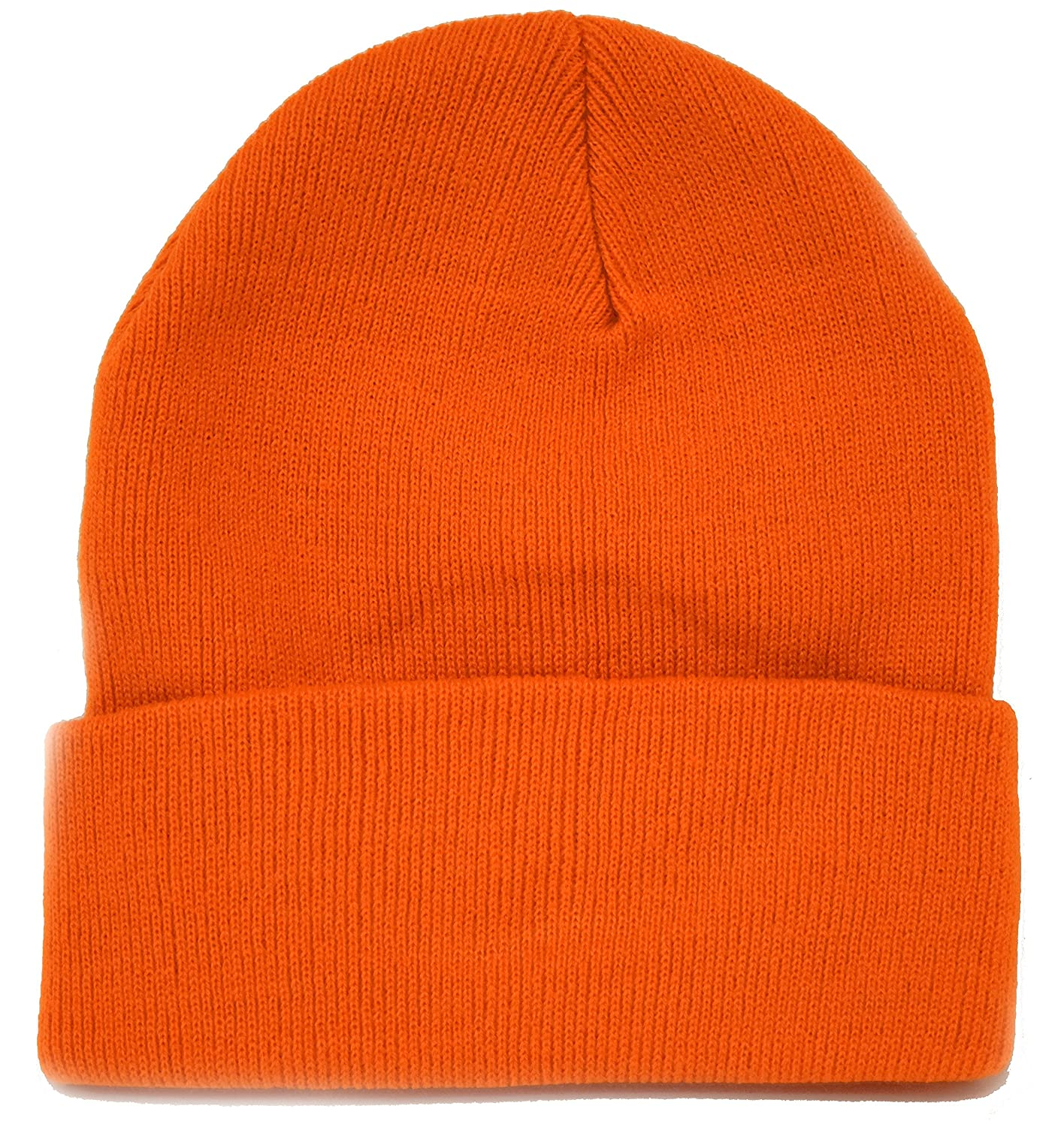 9dcda5a48de Amazon.com  Long Knit Beanie Ski Cap Hat in Orange  Clothing