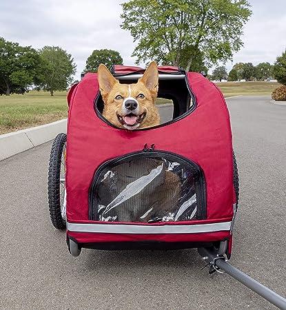 PetSafe Happy Ride Aluminum Dog Bike Trailer - Excellent For Pet Safety