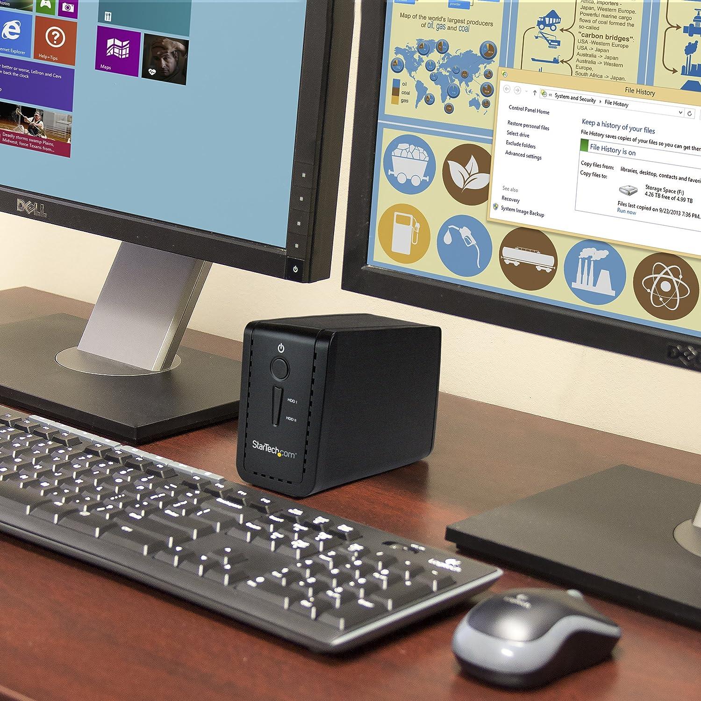 SATA 6 Gb//s Bo/îtier 2x HDD//SSD//SSHD USB-C et USB-A StarTech.com Bo/îtier pour 2 disques durs 3,5 avec RAID USB 3.1 S352BU313R