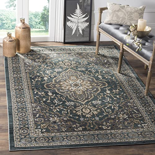 Safavieh Lyndhurst Collection LNH338A Teal and Grey Area Rug