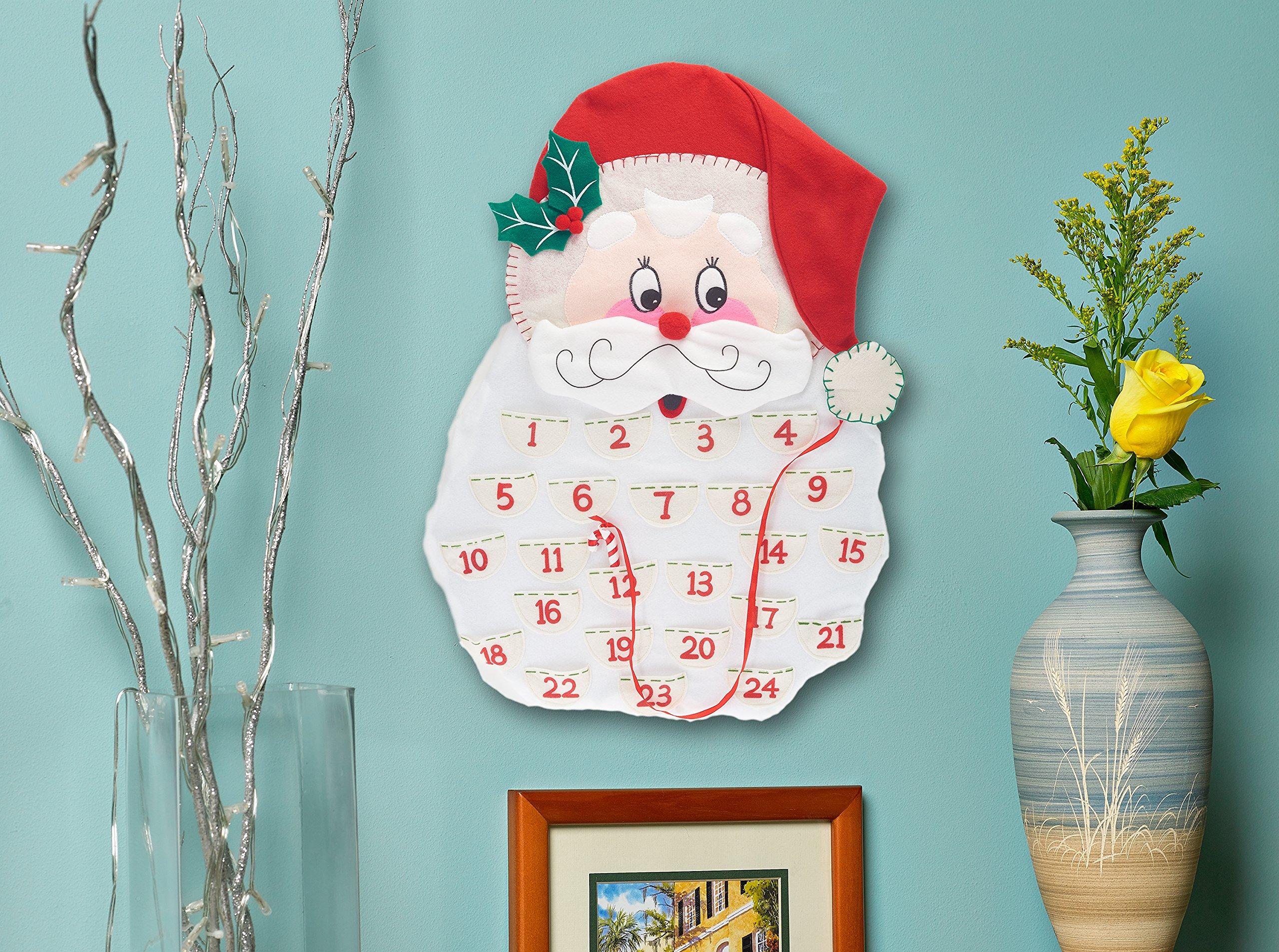 Prextex 24'' Countdown to Christmas Plush Santa Advent Calendar