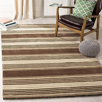 Amazon Com Safavieh Martha Stewart Collection Msr4541a Handmade Harmony Stripe Wool Area Rug 9 X 12 Tobacco Leaf Furniture Decor