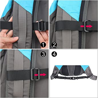 Heavy Duty Adjustable Backpack Sternum Strap ... wisdompro Backpack Chest Strap