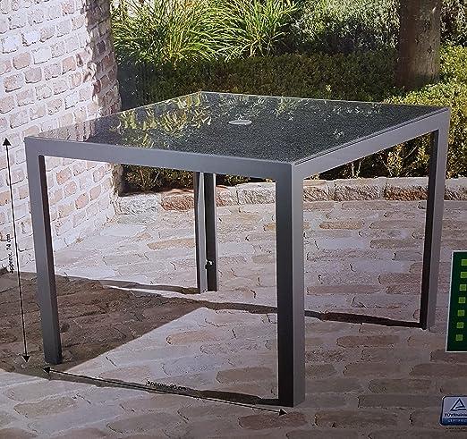 Mesa de jardín 90 x 90 cm Garden Line mesa comedor mesa de cristal ...