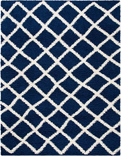 Safavieh Dallas Shag Collection SGD258N Trellis 1.5-inch Thick Area Rug