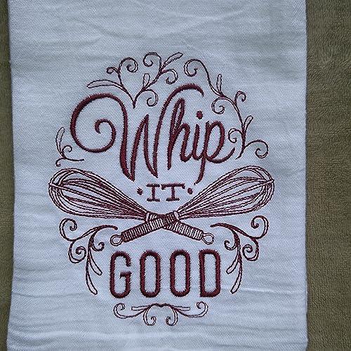 Merveilleux Whip It Good Flour Sack Towel, Tea Towel, Funny Kitchen Towel, Vintage Towel