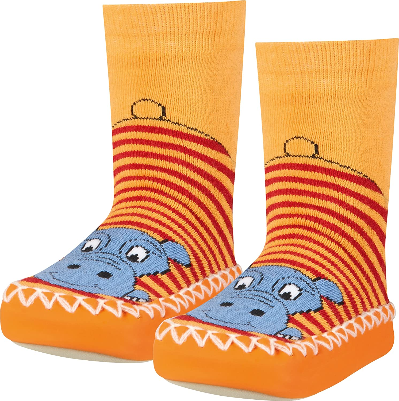 Playshoes Zapatillas con Suela Antideslizante Hippopotamus Pantuflas Unisex ni/ños
