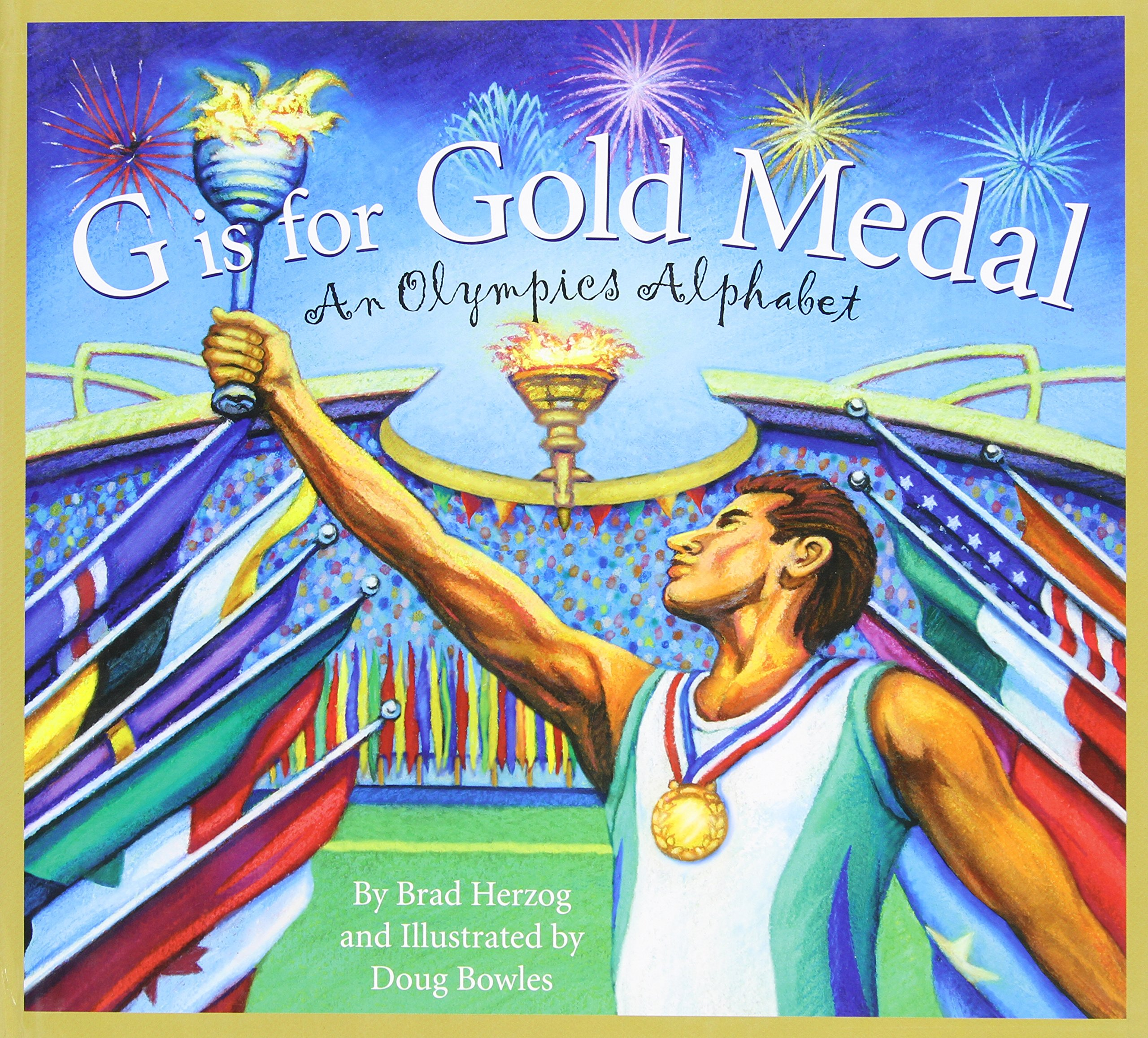 g is for gold medal an olympics alphabet sports alphabet brad