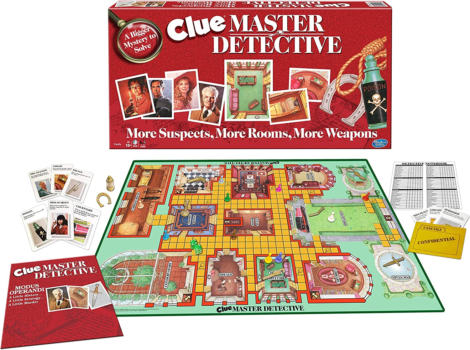 Winning MovesClue Master Detective - Board Game, Multi-Colored