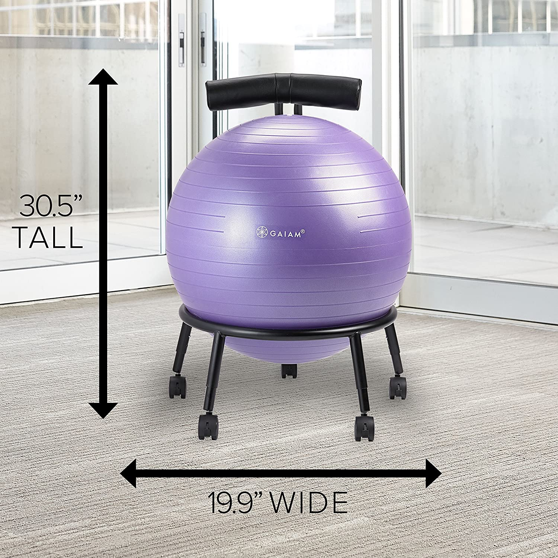 Gaiam Balance Ball Chair Inflation: Gaiam Adjustable Custom-Fit Balance Ball Chair