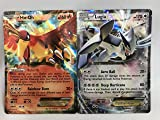 100 Pokemon Cards with Legendary Birds LUGIA EX and Ho-OH EX holo set- 5 coin tokens, deck box, ultimate Gift Collection