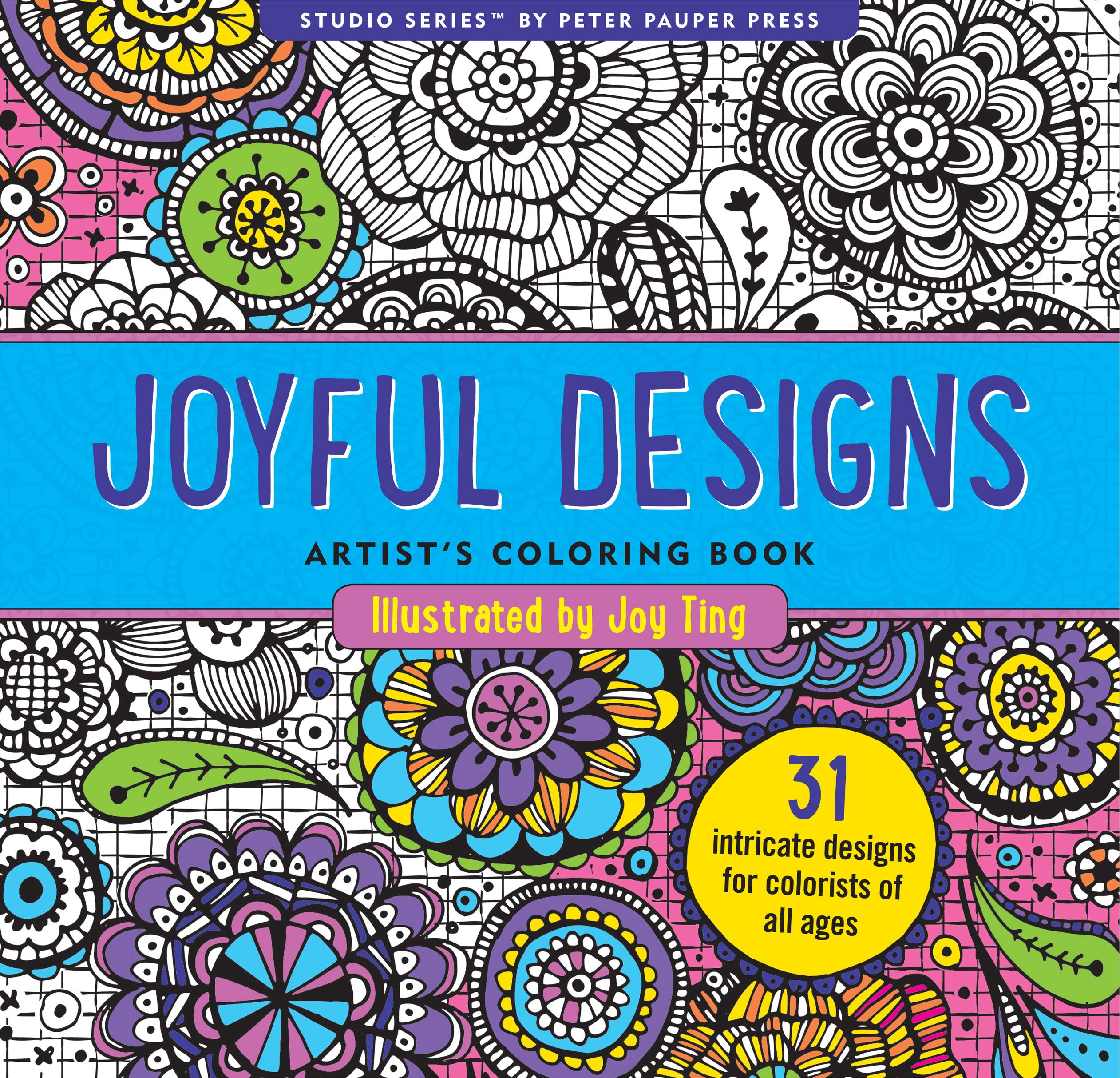Image for Joyful Designs Adult Coloring Book (31 stress-relieving designs) (Studio)