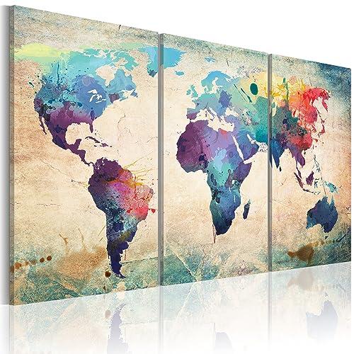 bd xxl murando impression sur toile 120x60 cm 3 pieces image sur toile