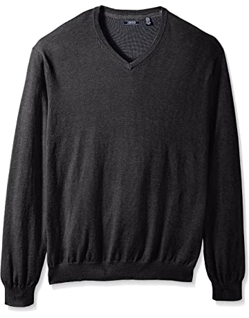 9647ad18123 IZOD Men s Big and Tall Long Sleeve Soft Fine Gauge Solid V-Neck Sweater.  3