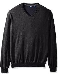 Izod Mens Big-Tall Big and Tall Fine Gauge Solid Vneck Sweater