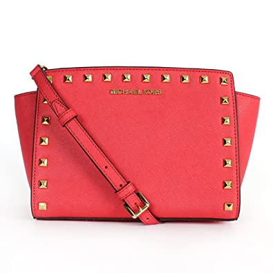 fdf04bac5d2b Michael Kors Stud Selma Watermelon: Handbags: Amazon.com