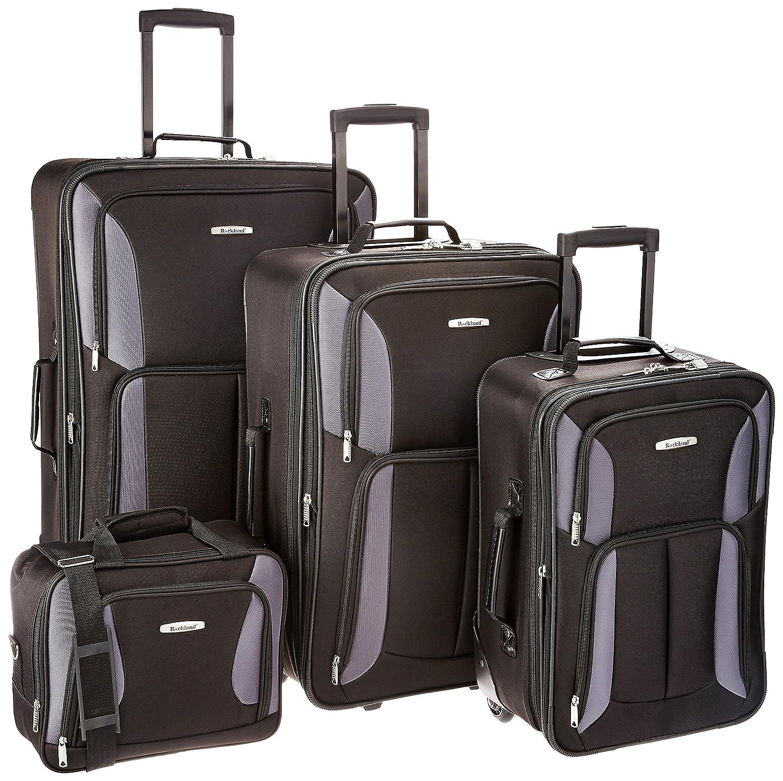 Rockland Luggage 4 Piece Set, Purple, One Size Fox Luggage F32-PURPLE