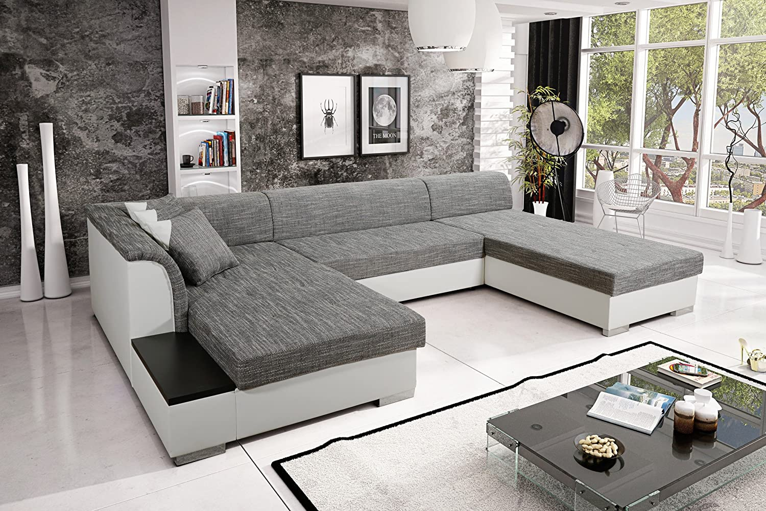 sofa couchgarnitur couch sofagarnitur kreta 4 u. Black Bedroom Furniture Sets. Home Design Ideas