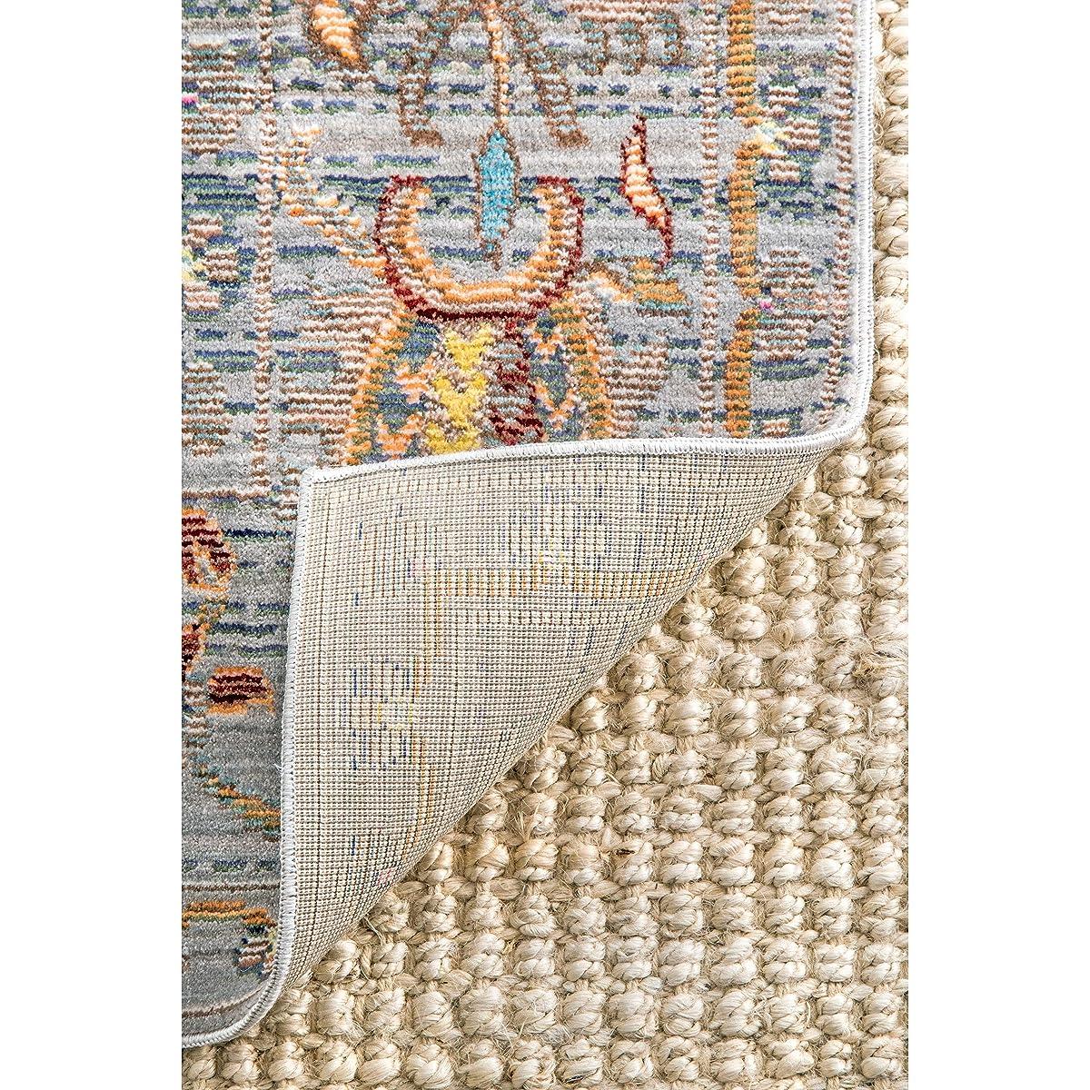 "nuLOOM Traditional Vintage Paisley Oriental Runner Area Rugs, 2 6"" x 8, Grey"