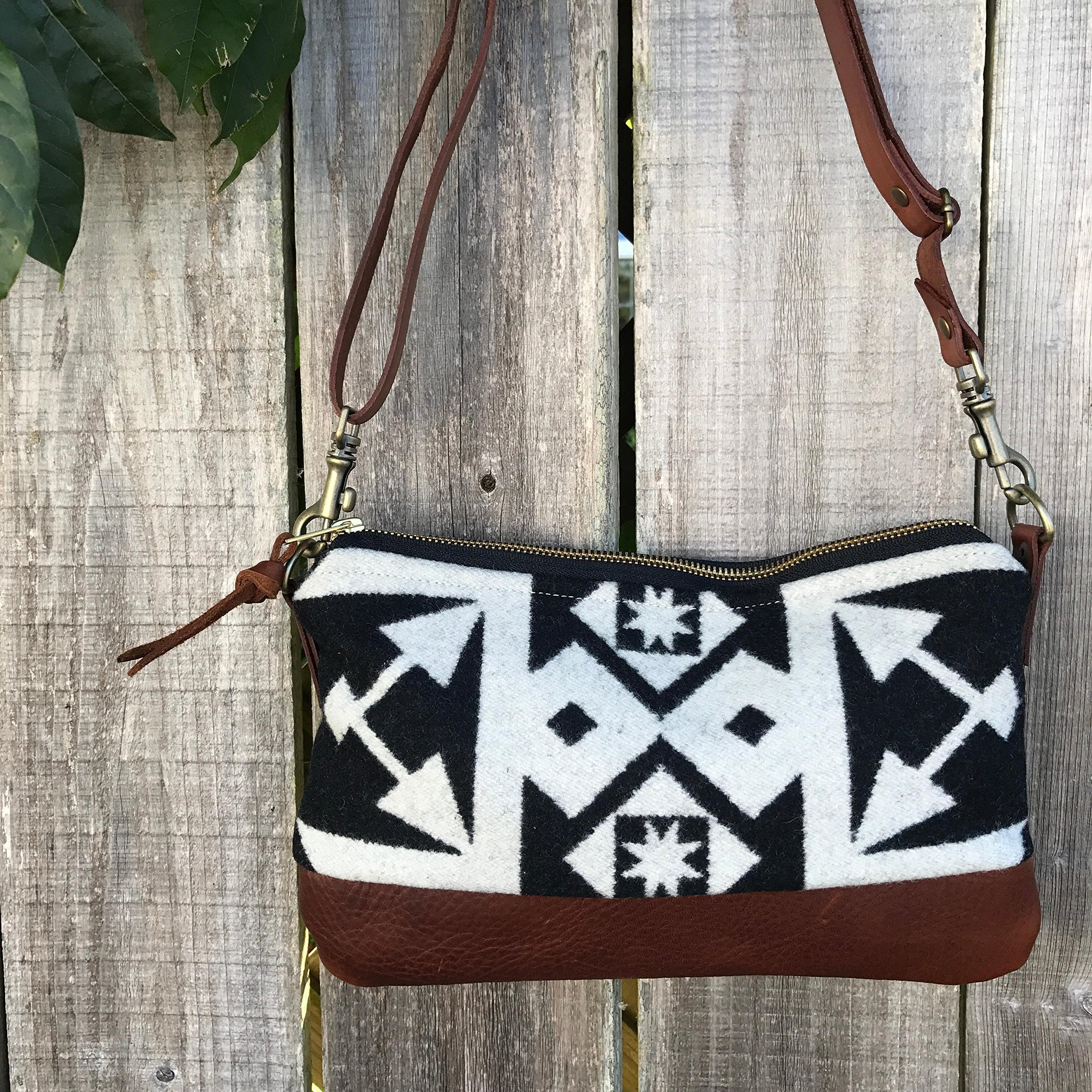 CUSTOM ORDER FOR SARAH Willamette Crossbody in Pendelton® wool and full grain leather