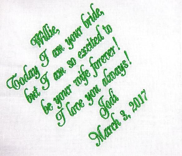 amazon com groom handkerchief gift from bride to groom