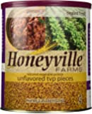 Unflavored Textured Vegetable Protein TVP - 2.25 Pound Can