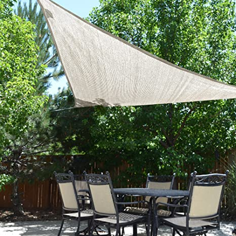 Sol Armor 12 Ft Triangle Shade Sail, Monterey