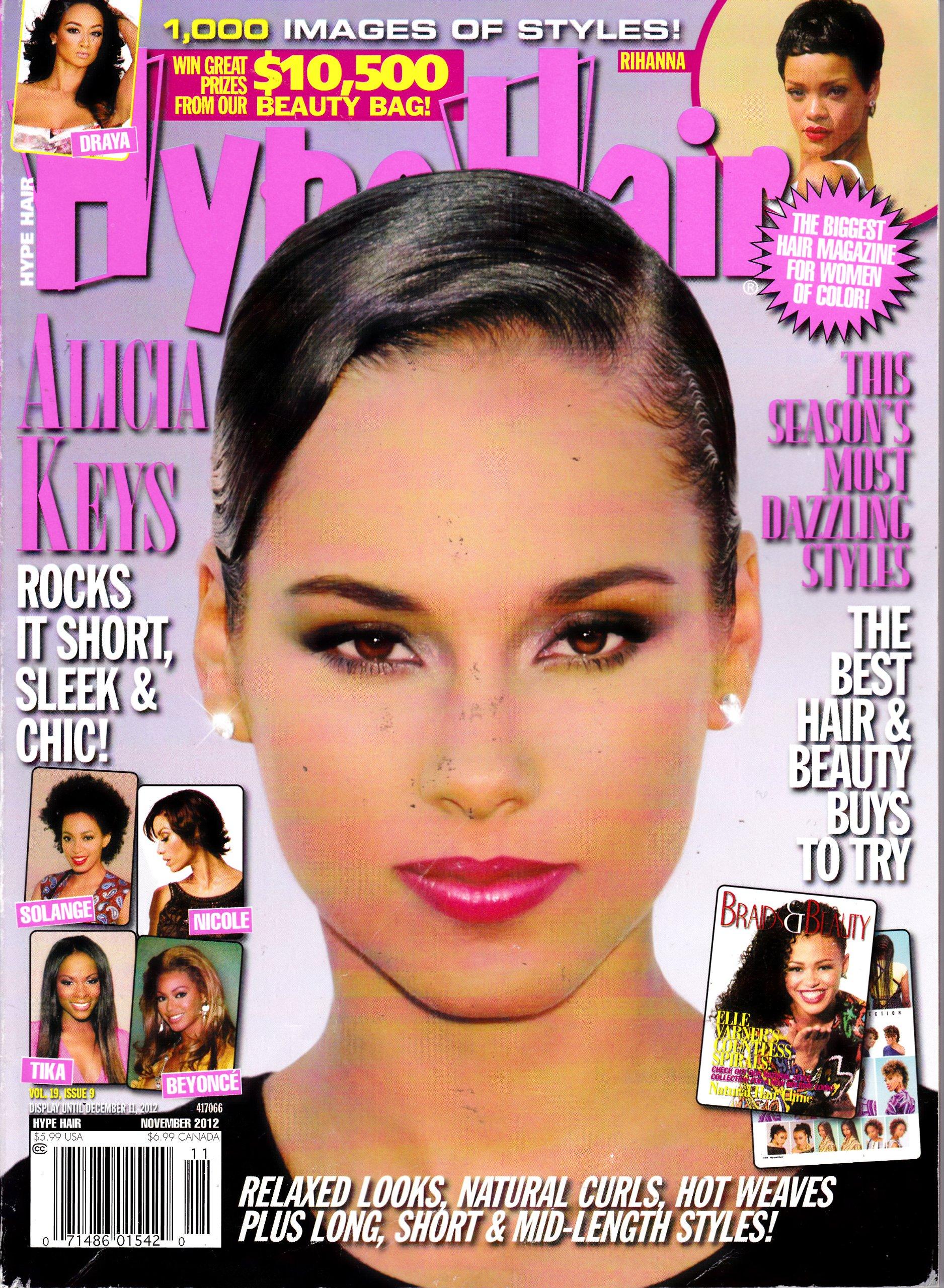 HYPE HAIR MAGAZINE NOVEMBER 2012 *ALICIA KEYS*: Various ...