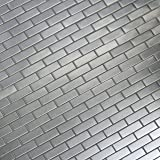 MS International MET-SBRICK Silver x 10 in. x 8mm