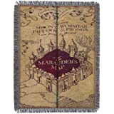 """Harry Potter, """"Marauder's Map"""" Woven Tapestry Throw Blanket, 48"""" x 60"""""""