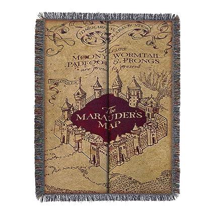 Harry Potter Marauders Map Blanket Amazon.com: Warner Brothers Harry Potter,