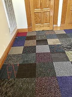 Peel And Stick Carpet Tiles 24x 24 Multi Colors In Box Shapes