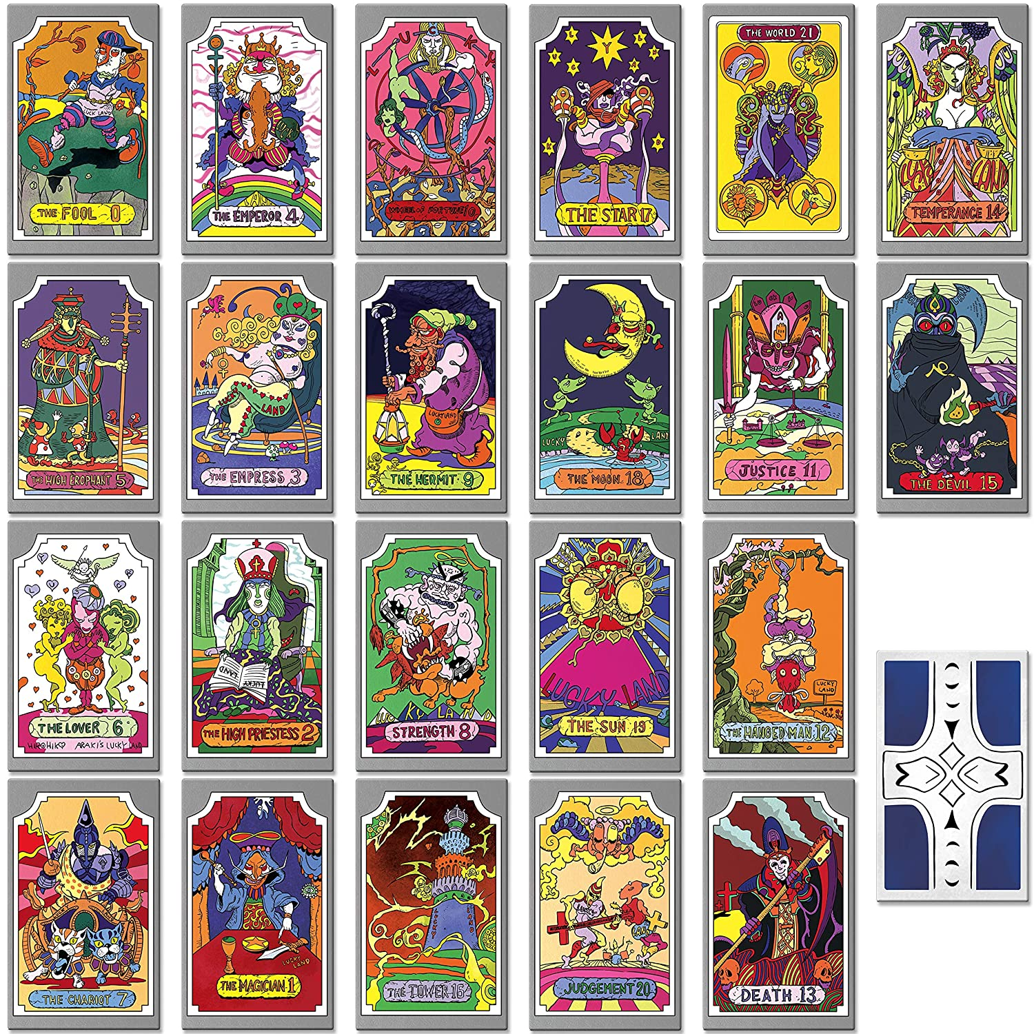 Instabuy Jojo Bizzarre Adventure - Manojo de Cartas de Tarot ...