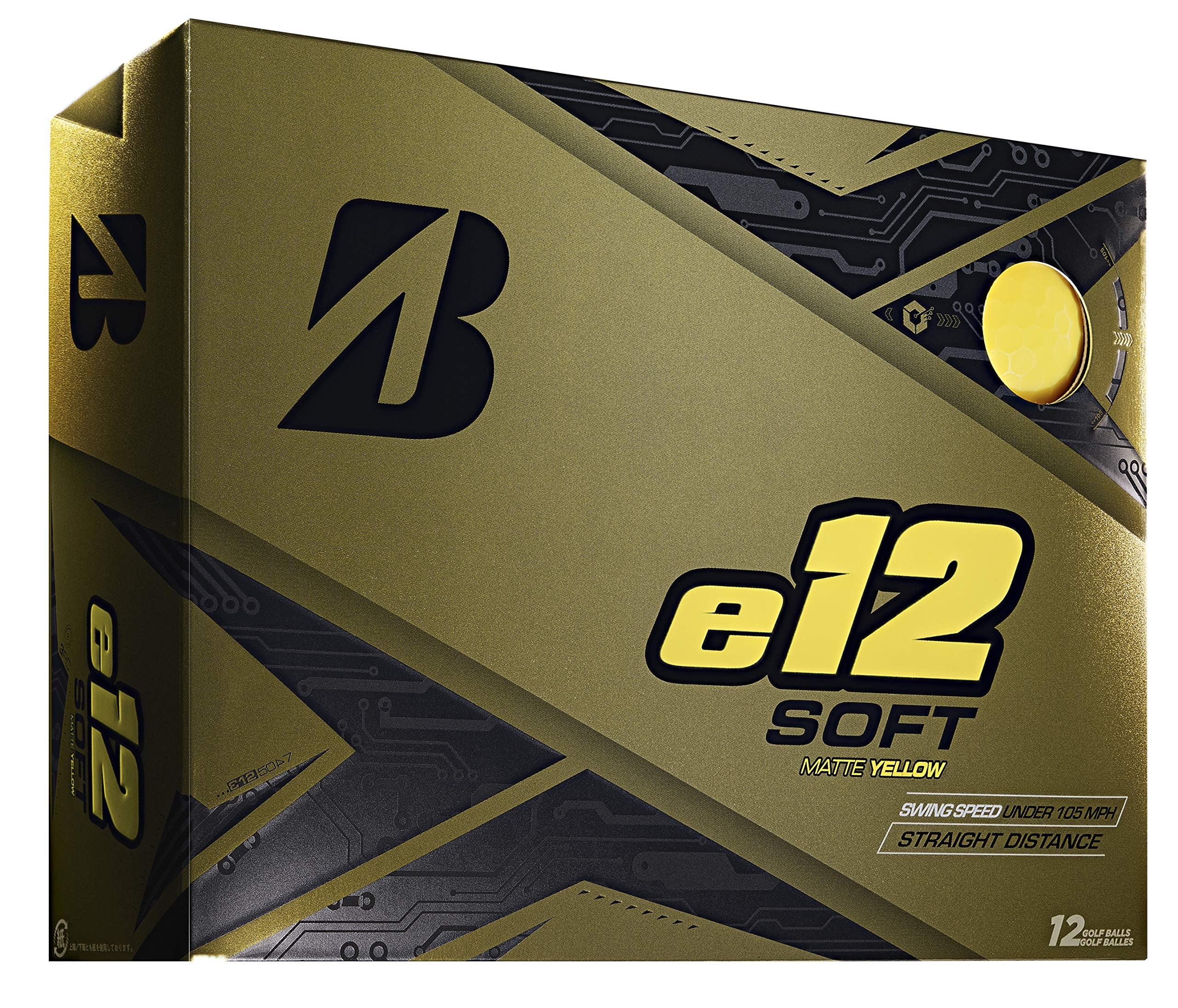 Bridgestone Golf e12 Soft Golf Balls, Matte Yellow (One Dozen)