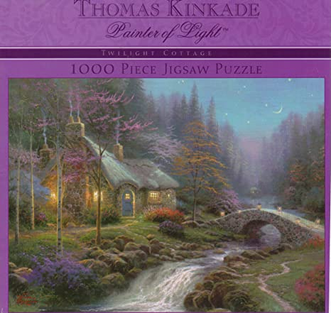 Outstanding Amazon Com Twilight Cottage Thomas Kinkade Puzzle 1000 Home Interior And Landscaping Ologienasavecom