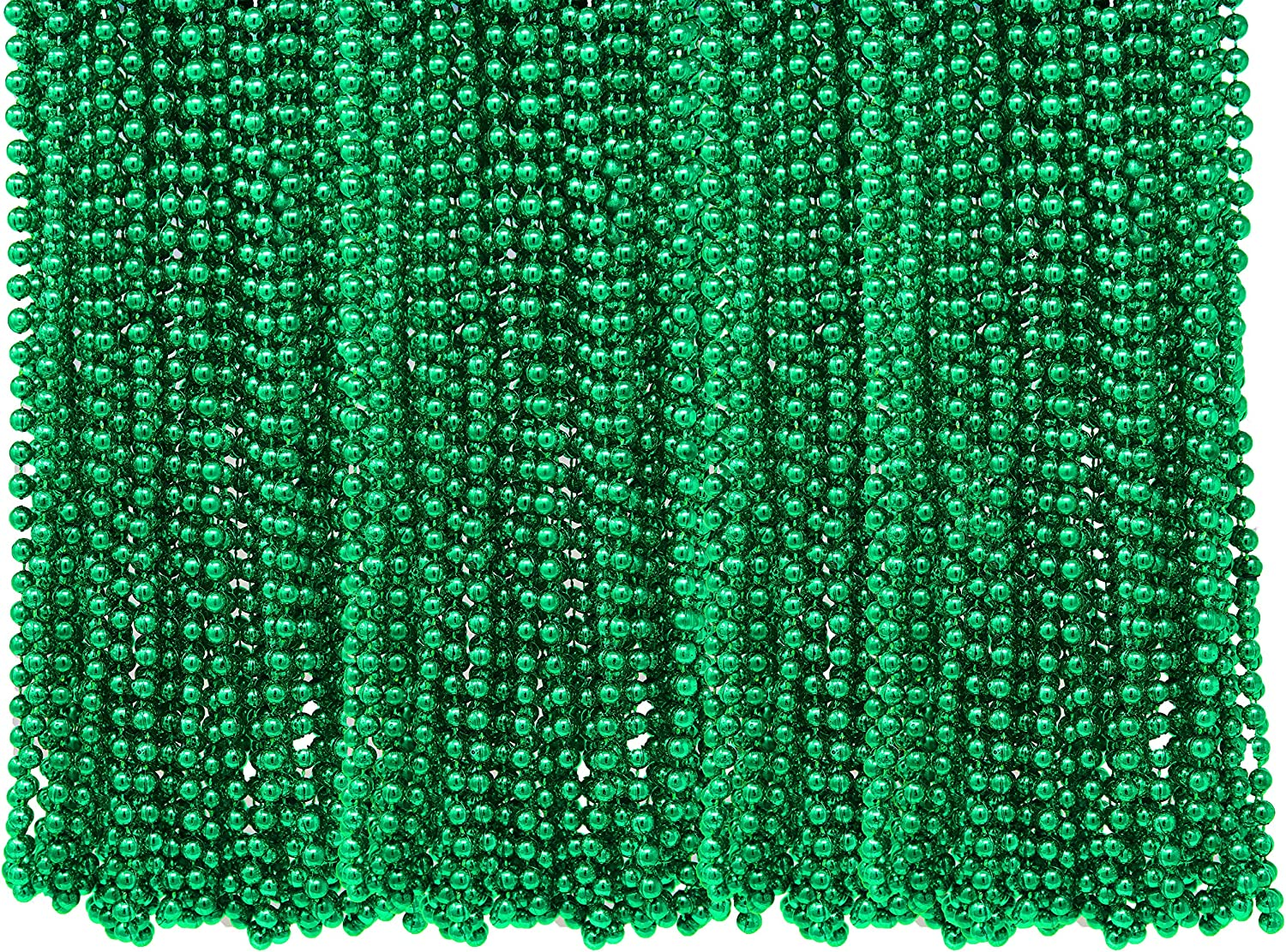 4e S Novelty St Patricks Day Beads Necklace Bulk 72 Pack Green Beads St Patrick S Day Gifts For Kids 33 7mm Kids Party Favor Supplies Costume Accessories Toys Games Amazon Com