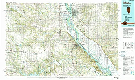 Amazon Com Yellowmaps Quincy Il Topo Map 1 100000 Scale 30 X 60
