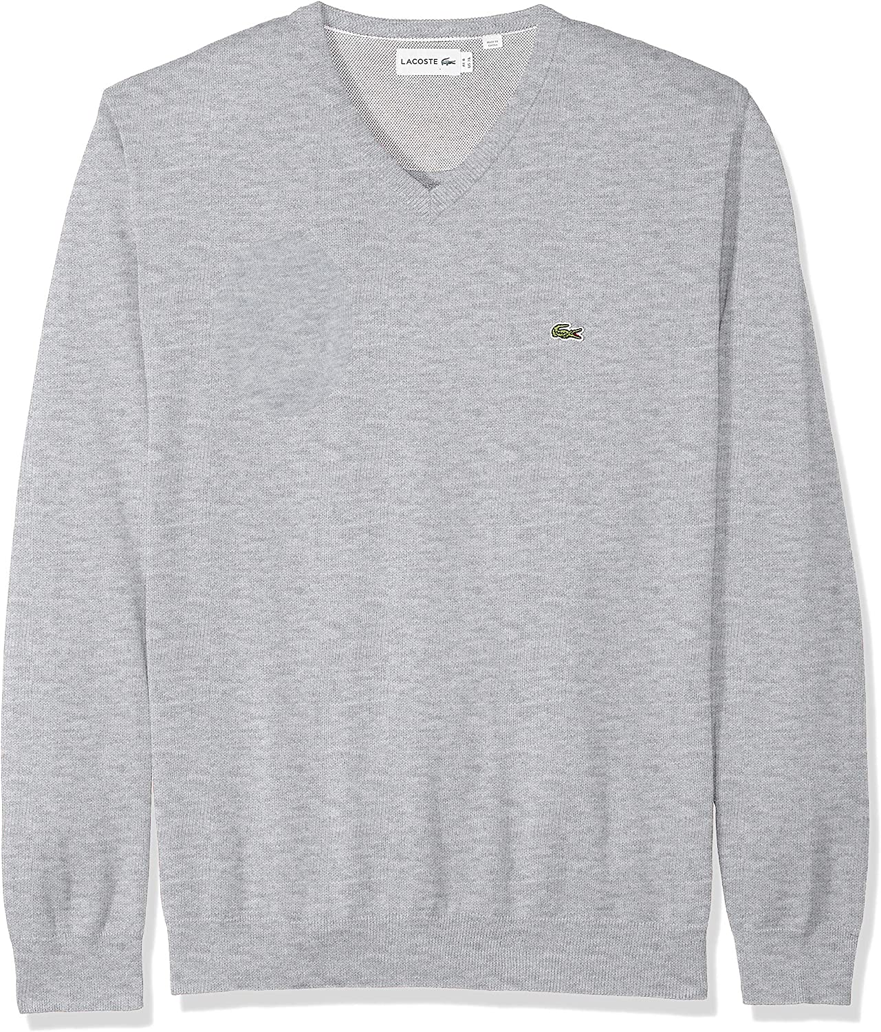 Lacoste Mens Long Sleeve Half Moon V Neck Jersey Sweater
