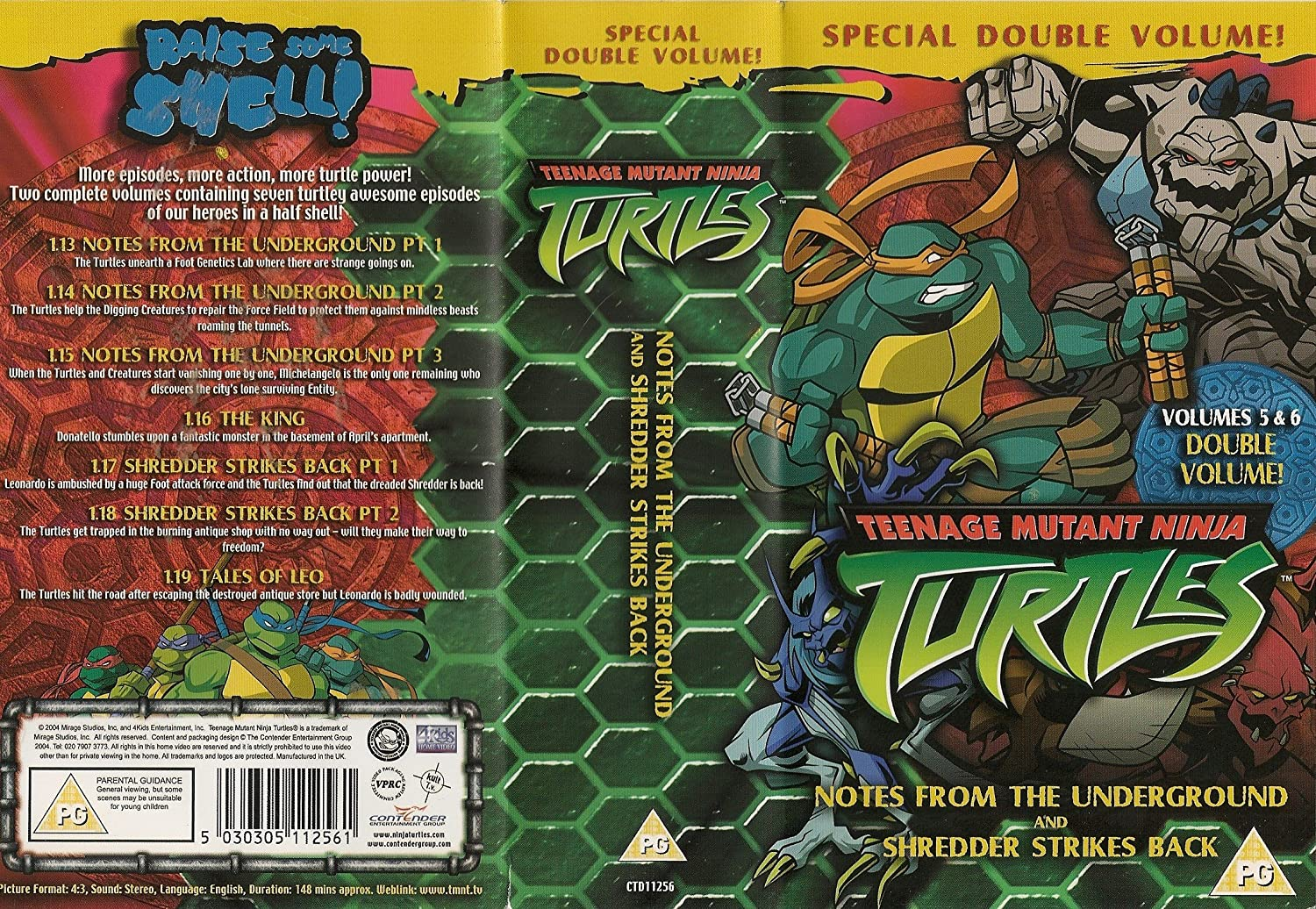Teenage Mutant Turtles 5 & 6 [Reino Unido] [VHS]: Amazon.es ...