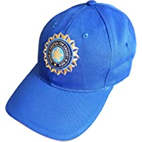 hhumanmakerr Men's Cotton Team India Supporter Cricket Cap (Blue, Free Size)