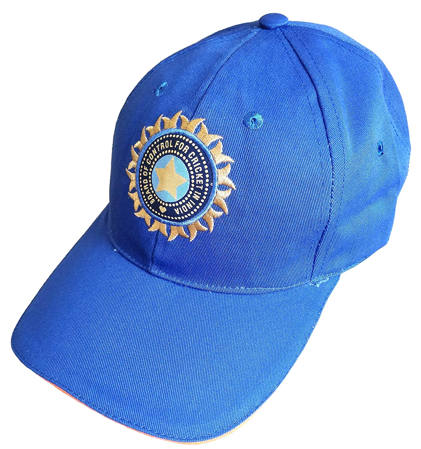 ebcb0b7d79b Buy hhumanmakerr Men s Cotton Team India Supporter Cricket Cap (Blue ...