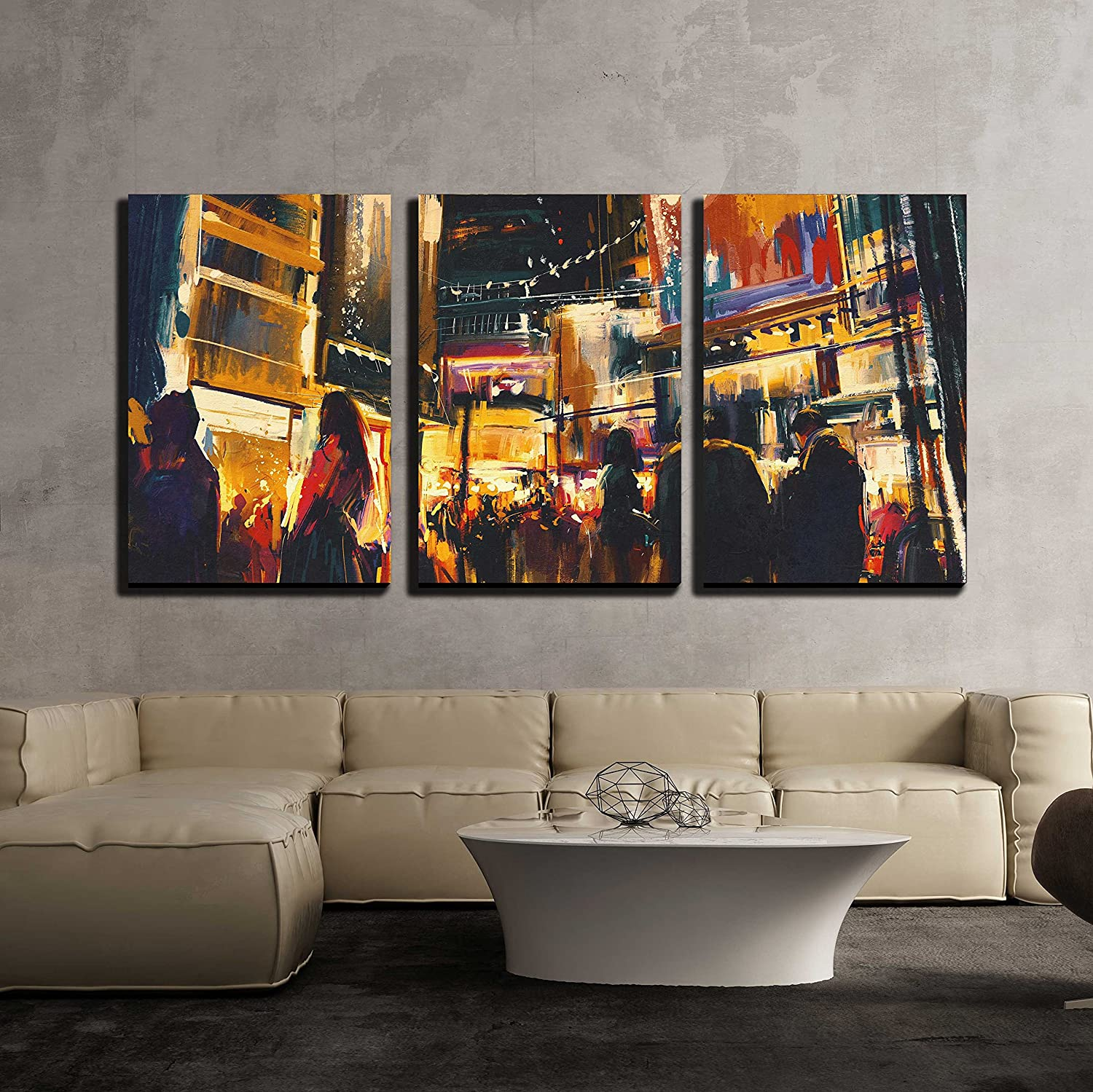 Wall26  3 Piece Canvas Wall Art  Colorful Of