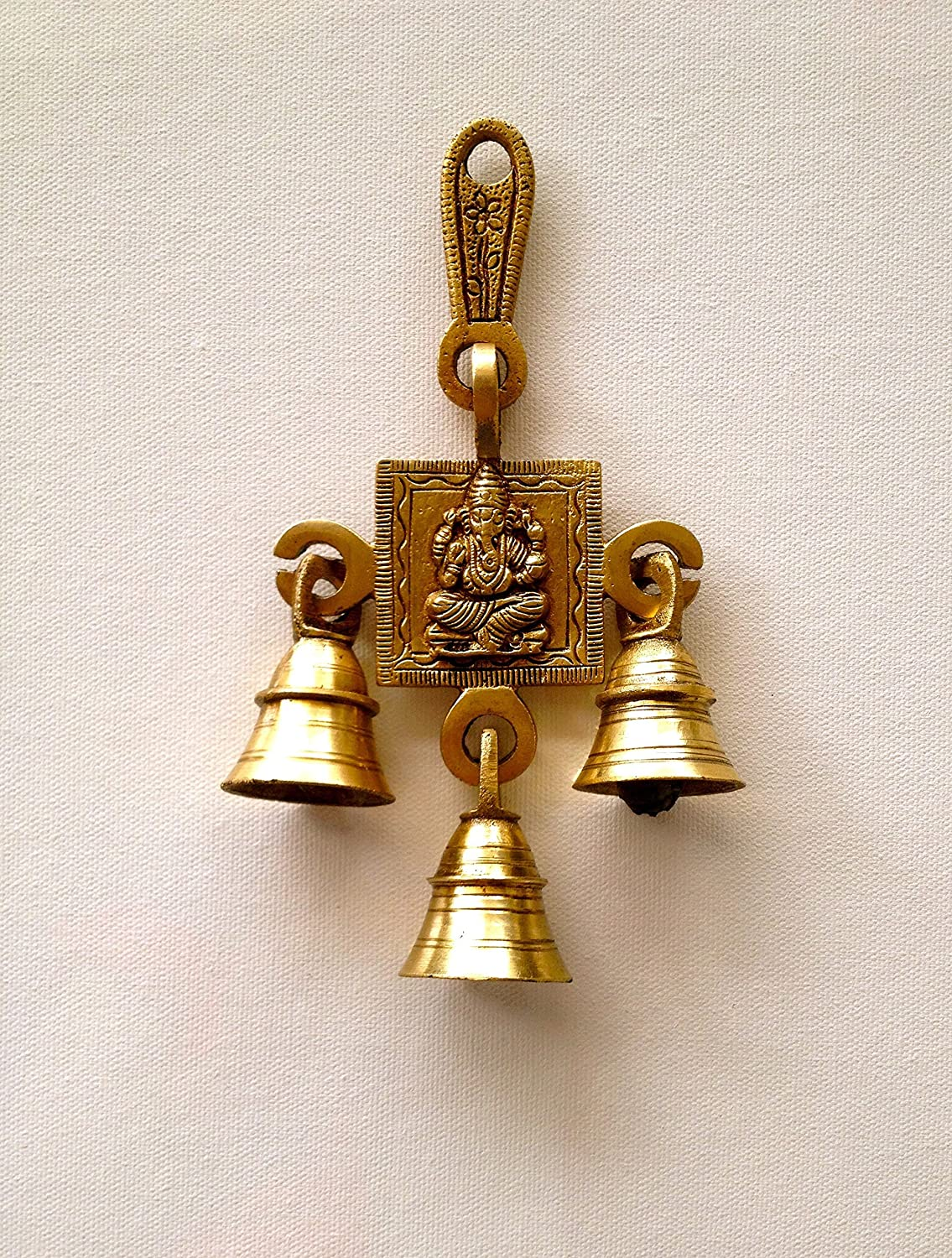 Buy Als Kings And Queens Brass Gift Statue Ganehsa Wall Hanging With 3  Bells Online At Low Prices In India   Amazon.in